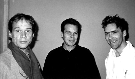 www.residentadvisor.net Arthur Russell, Tom Lee and Steven Hall at a SHINY magazine party at the Doug Milford Gallery in the early 1980s.
