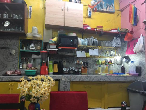 色鮮やかなカーサ・アレイドのキッチン!カールくん撮影
